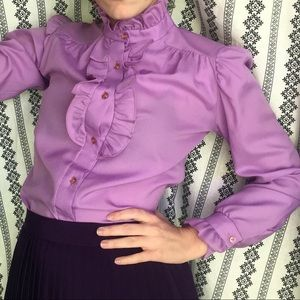 VINTAGE Victorian style ruffle blouse